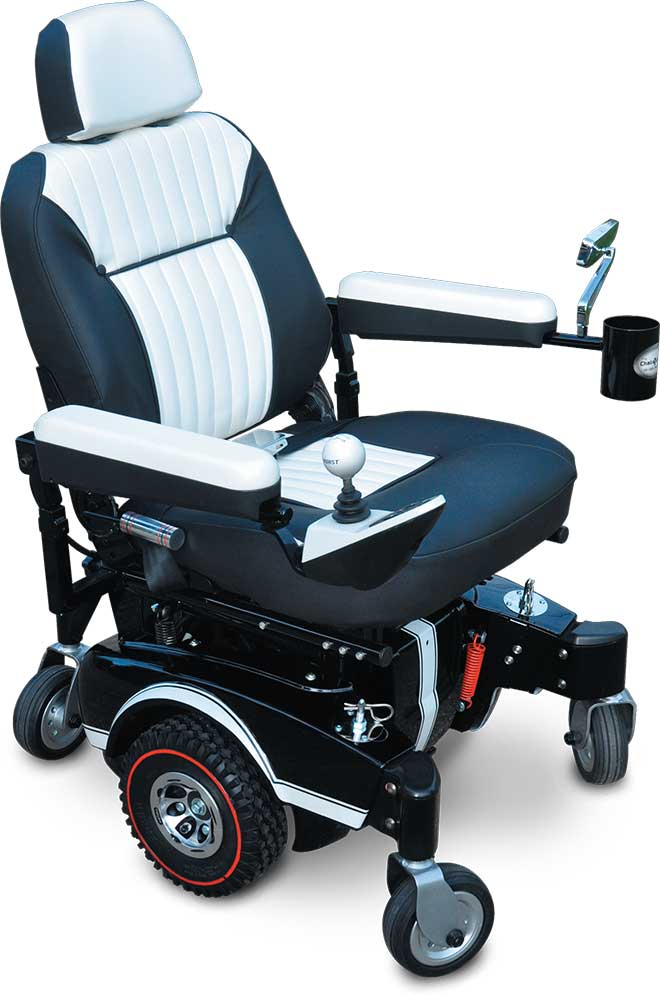A custom wheelchair by The Chair Doctor