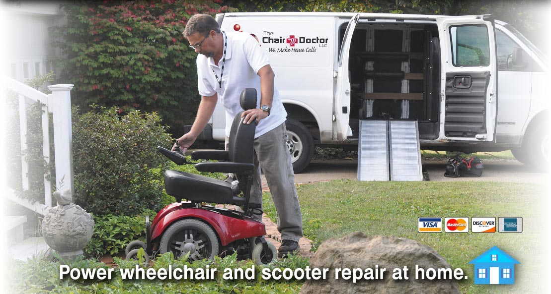 Have your power wheelchair or scooter repaired at home.